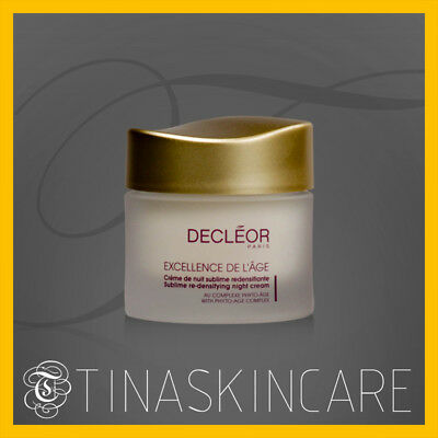 Decleor Excellence De L'Age Sublime Re-Densifying Night Cream 50ml/1.69oz New Fr