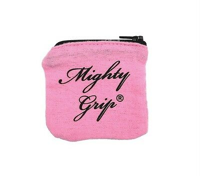 Mighty Grip  Pole Dance Powder & Gymnastic Reusable Chalk Studio Zip Pouch PINK