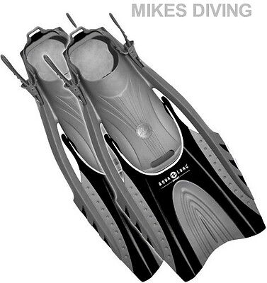 HINGEFLEX FINS by AQUA LUNG SPORT flippers for snorkel snorkeling - BLACK