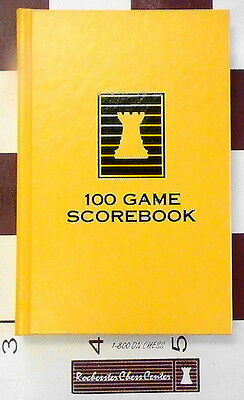 Yellow Hardcover Chess Scorebook - Chess Notation Pad - Made in USA