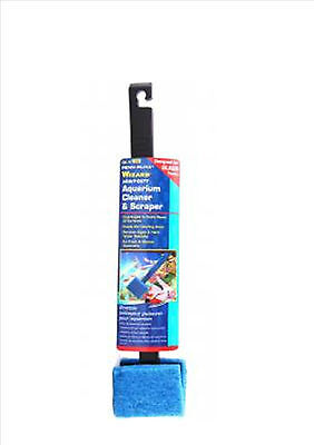 Penn Plax Wizard Heavy Duty Algae Cleaner & Scraper Pad for Glass Aquariums