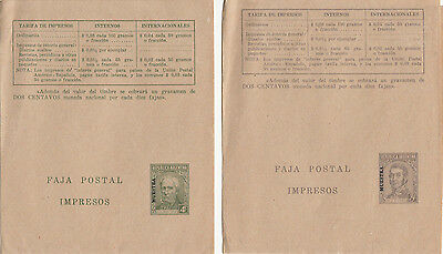 Stamps Argentina UPU pair newspaper wrappers with MUESTRA, SPECIMEN overprint