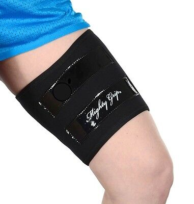 Mighty Grip 2 Black Inner Thigh Protectors for Pole Dancing with Tack strips