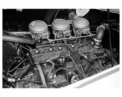 1953 Kaiser Darrin Prototype Engine Factory Photo ub1415-JFN3BQ