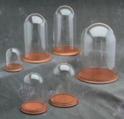 """NEW Clock or Display Glass Dome 5-1/2"""" x 10"""" (GLD-510)"""