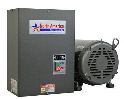 UL-15 Pro-Line 15HP UL Listed Rotary Phase Converter - NEW - Free Shipping