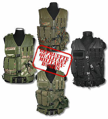 Einsatzweste Taktikweste tactical vest USMC 6 Farben Softair Paintball Holster