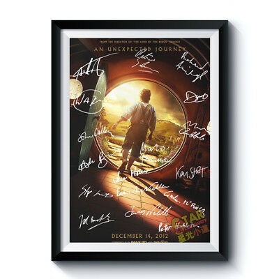 THE HOBBIT Signed Poster A4 Reprint AN UNEXPECTED JOURNEY Autographed 200001