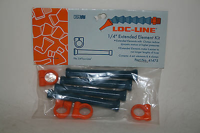 "Loc-Line 1/4"" Hose Extended Element Kit with Element Clamps 41475 NEW!!!"