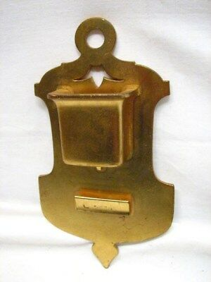 Vintage Brass/Bronze Match Safe Holder Wall Pocket Marke Tiffany & Co 0319/6254