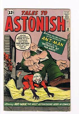 Tales to Astonish # 38  Ant-Man Wasp grade 4.5 - movie super scarce hot book !!
