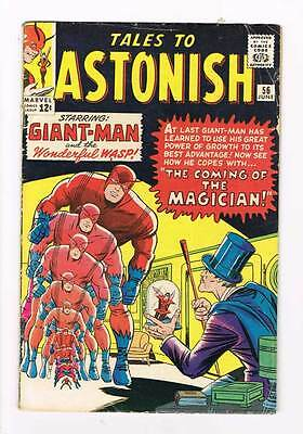 Tales to Astonish # 56  Ant-Man Wasp grade 5.0 - movie super scarce hot book !!