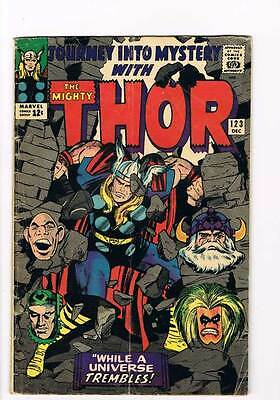 Journey into Mystery # 123 Kirby Thor grade 4.0 - movie super scarce hot book !!