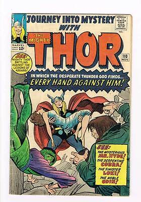 Journey into Mystery # 110 Kirby Thor grade 5.0 - movie super scarce hot book !!