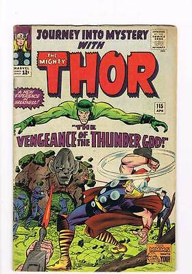 Journey into Mystery # 115 Kirby Thor grade 5.0 - movie super scarce hot book !!
