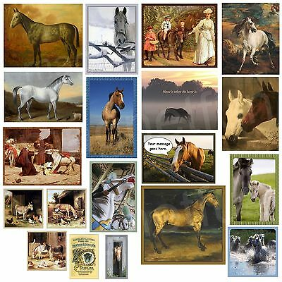 Horse Magnet Donkey Magnet Mules Free Personalization Chose Fave Horse Picture