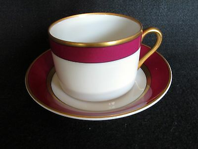 Fitz And Floyd Renaissance Magenta Teacup With Saucer