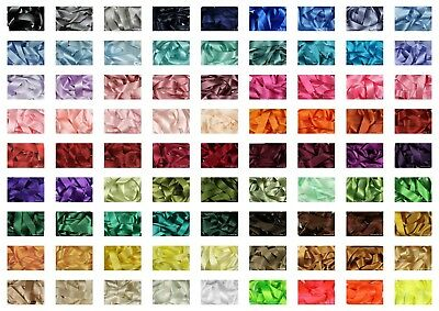 Ribbon Double Satin by Berisfords 30 Colours 8 Widths Listed Cut to Order