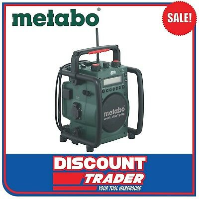 Metabo Cordless Worksite Radio with Inbuilt Charger - RC 14.4 - 18