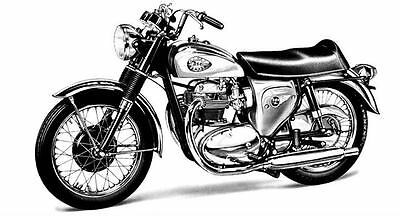 1966 BSA Lightning Motorcycle Photo Poster zc213-3Y9REP