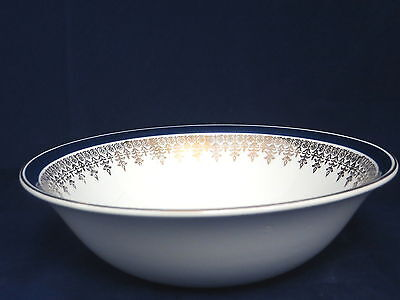 MYOTT MEAKIN - MYM1 - Blue Band Gold Filigree - CEREAL BOWL - 44D