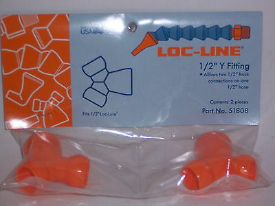 "Loc-Line 1/2"" Hose Y (2 males, 1 female) Fitting 51808 NEW!!!"