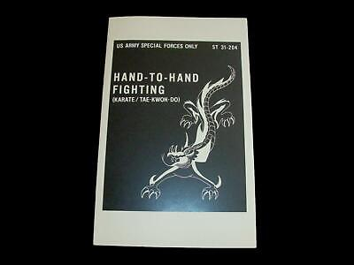 U.S ARMY SPECIAL FORCES HAND TO HAND FIGHTING KARATE HANDBOOK