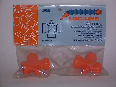 "Loc-Line 1/2"" Hose (female) to 1/2"" Hose (2 male) T Fitting 51825 NEW!!!"