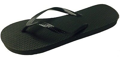New 36 PaiR Womens Solid Black Flip Flops Nwt Ladies