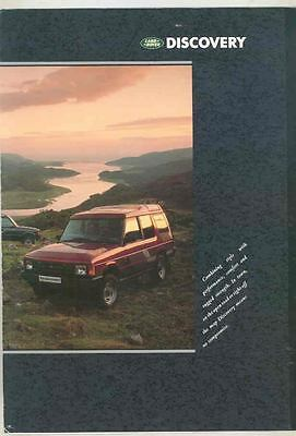 1989 Land Rover Discovery Brochure wt4109
