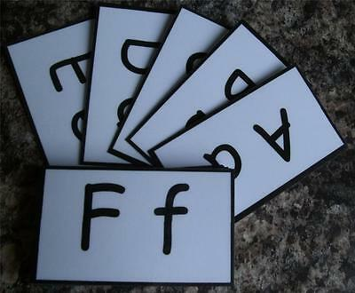 Alphabet flash cards EYFS, Available in 4 designs, Ideal pocket size cards