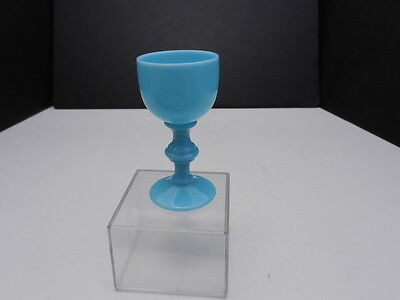 "Imperial Glass Provencial Cordial Turquoise Opaque 3 3/8"" T ca 1962-1966"