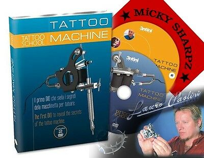The TATTOO MACHINE DVD Secrets Specialising Techniques Tattoo Supply