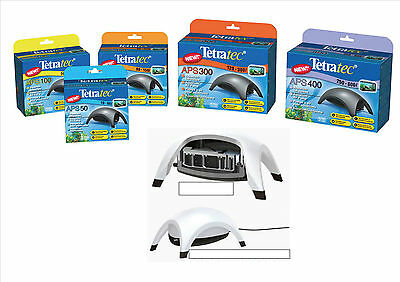 Tetratec Fish Tank Aquarium Air Pump Aps50,100,150,300,400 Grey & White Models