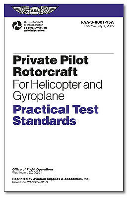 NEW ASA Practical Test Standards Private Pilot Rotorcraft Helicopter & Gyroplane