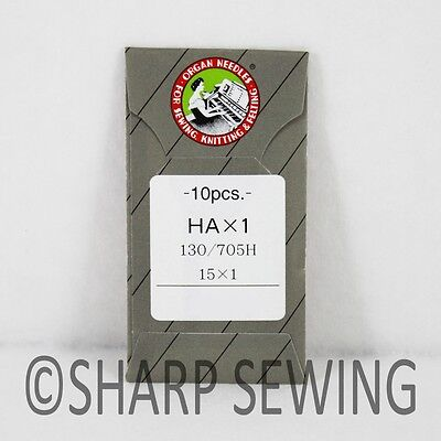 10 Organ Flat Shank 15X1 Hax1 130/705 Home Sewing Machine Needles Brother Singer