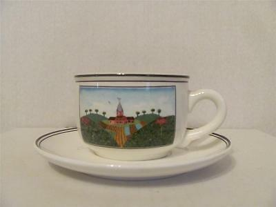 Villeroy and Boch Design Naif Farm Flat Cup and Saucer Set White
