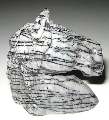 Beautifully Carved *picasso Jasper* Horse Head / Lovely Detail / A1+ Grade