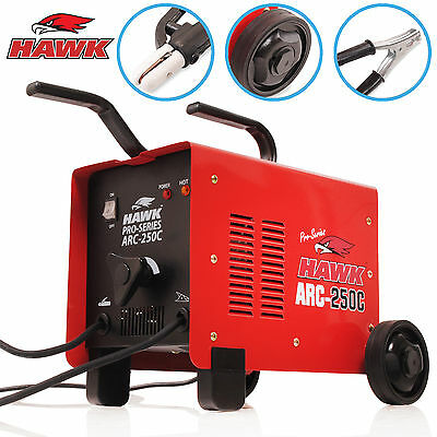 Hawk Tools 250 Amp Arc Mma Stick 230V Portable Weld Welding Welder Machine Kit
