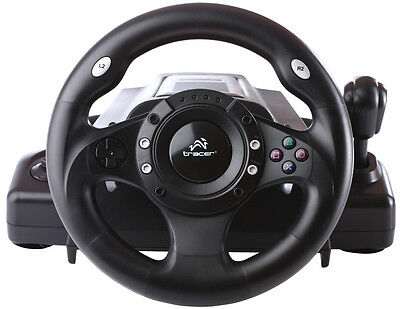 Lenkrad Gas Bremspedale Pedale Steering Wheel Vibration Feedback PC PS2 PS3 USB