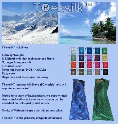 TREKSILK Silk Liner Sleeping Bag/Sack Camping Scout Troop Inner Sheet  Gap Year