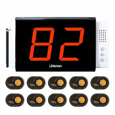 Linkman Wireless  Service Calling Systems 10 Small Pagers 1 Clear View