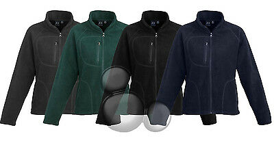 Ladies Micro Fleece Zip Pullover 4 Colours 6 Sizes Business Jumper New!