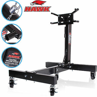 Hawk Tools 680Kg Heavy Duty Folding Portable Workshop Garage Engine Stand Mount