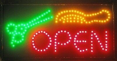 Animated Motion LED Business Barber Shop Open SIGN OnOffSwitch Bright Light Neon
