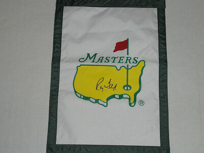 Raymond Floyd Signed Masters Garden Pin Flag Autographed 1976 Champion Hof Ray