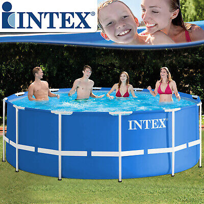 Intex 366x122 Schwimmbecken Swimming Pool Schwimmbad Frame Metal Stahlwand