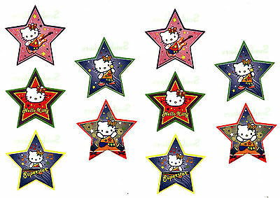 Sanrio Hello Kitty Glittery ROCK POP STAR 10 Large Stickers