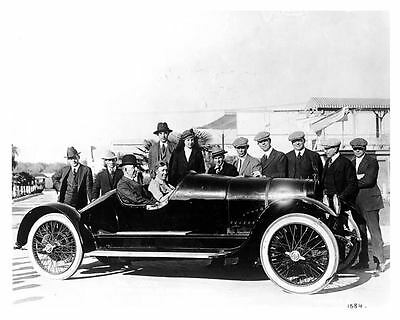 1916 Hudson Race Car Factory Photo Mr. and Mrs. Edsel Ford uc0165-72S7VV