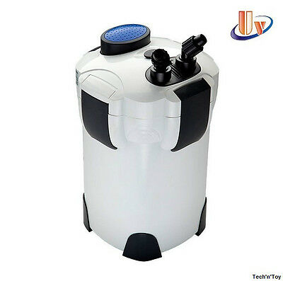 Sunsun Hw-304B 5-Stage External Canister Filter 525Gph/9W Uv Sterilizer W/ Media